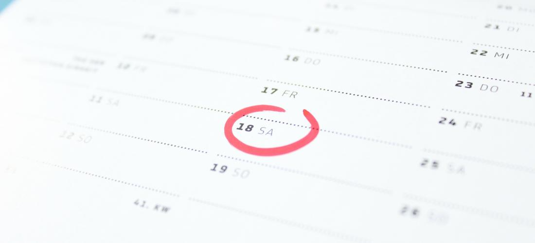 Bild eines Terminkalenders